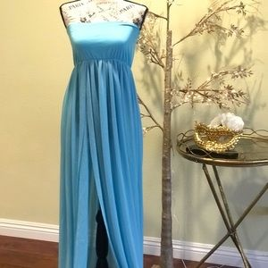 Resort and beach wear gown in baby blue